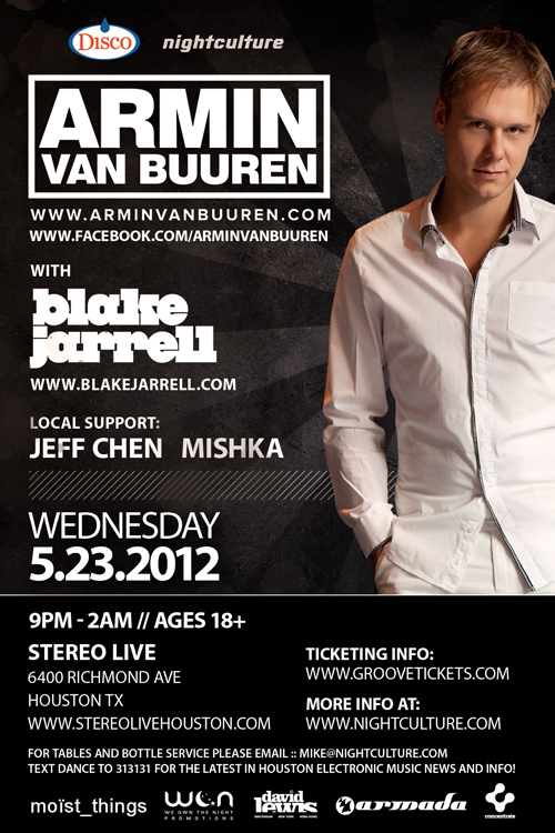 Opening Act for ARMIN VAN BUUREN 5.23.12 (Booked as Jeff Chen)