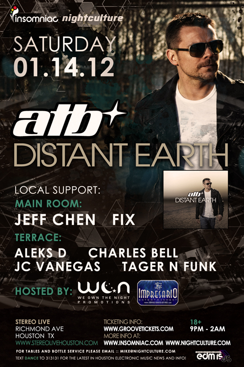 Opening Act for ATB 1.14.12 (Booked as Jeff Chen)