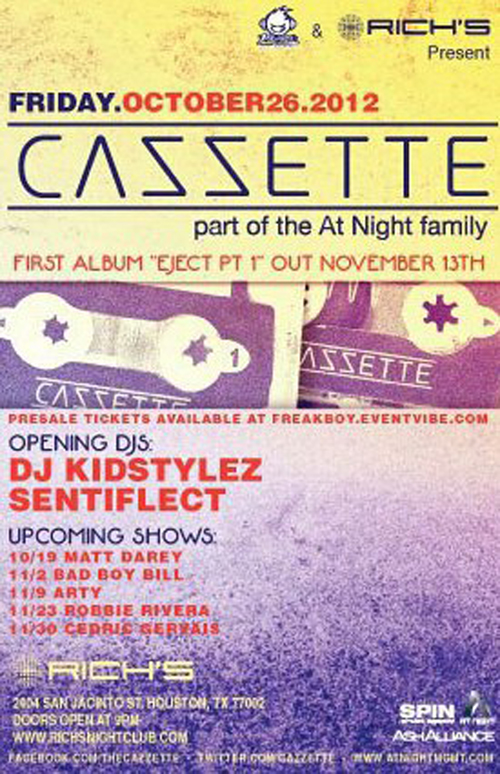 Opening Act for CAZZETTE 10.26.12