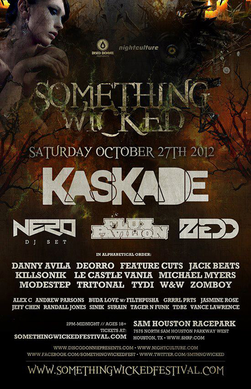 Performer at SOMETHING WICKED EDM FESTIVAL 10.27.12 (Booked as Jeff Chen)